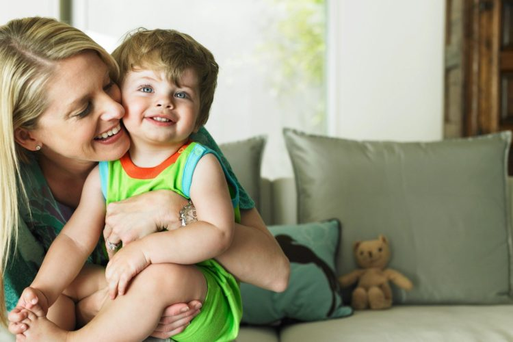 Healthy smiles - toddler and mom